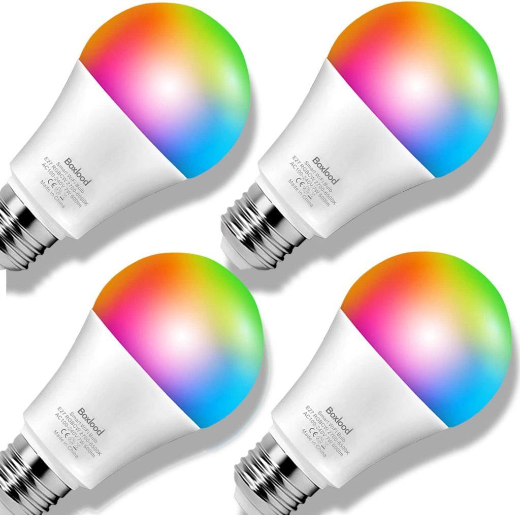 smarte Wifi Lampe LED, E27, warm-weiß, kaltweiß und mehrfarbiges Licht, dimmbar